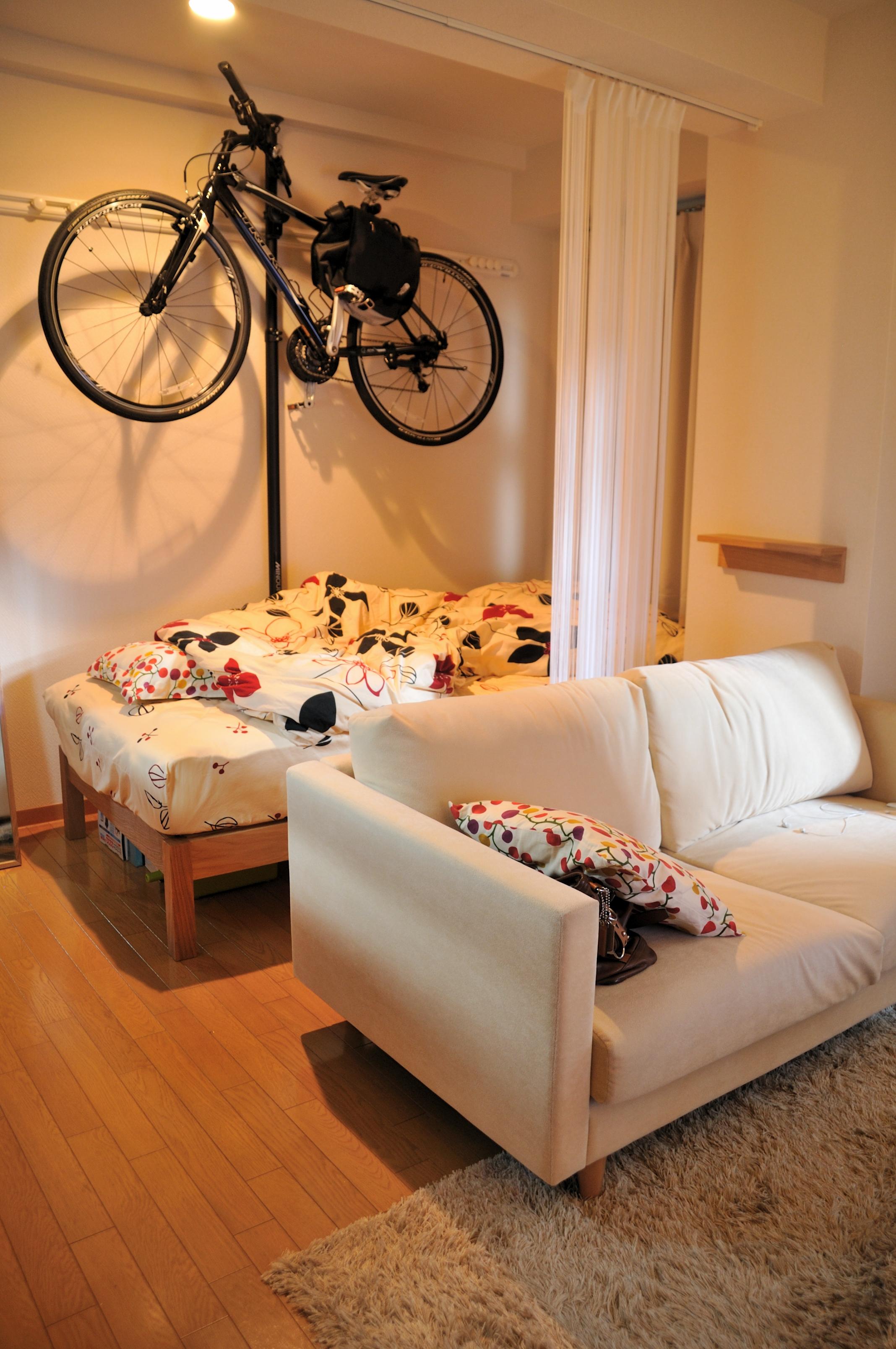 クロスバイクの室内保管