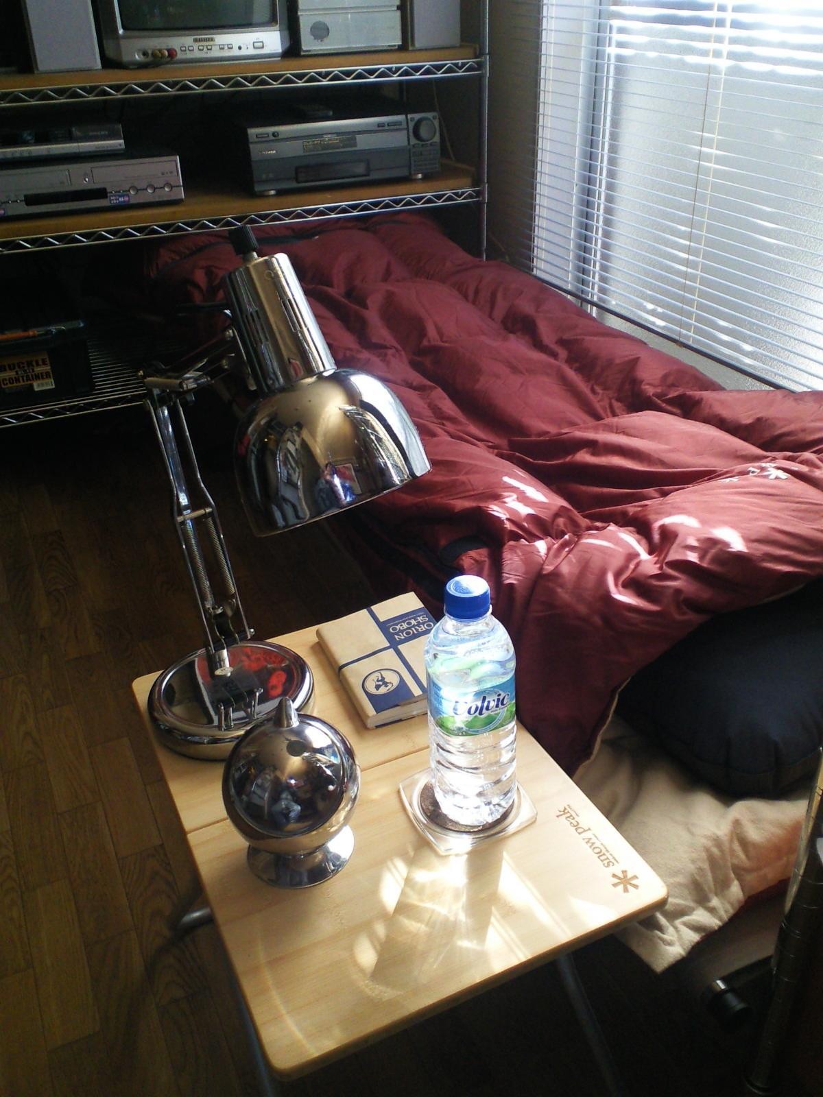 部屋歴史2011ー「寝袋展開」