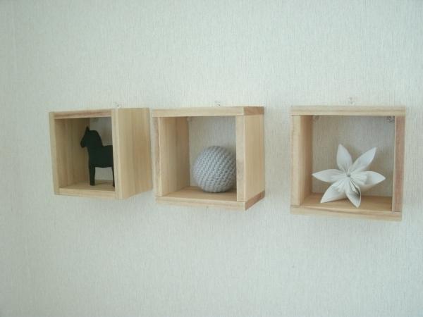 手作りのキューブボックスと雑貨