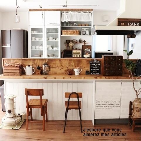さらにカフェ風キッチンに。