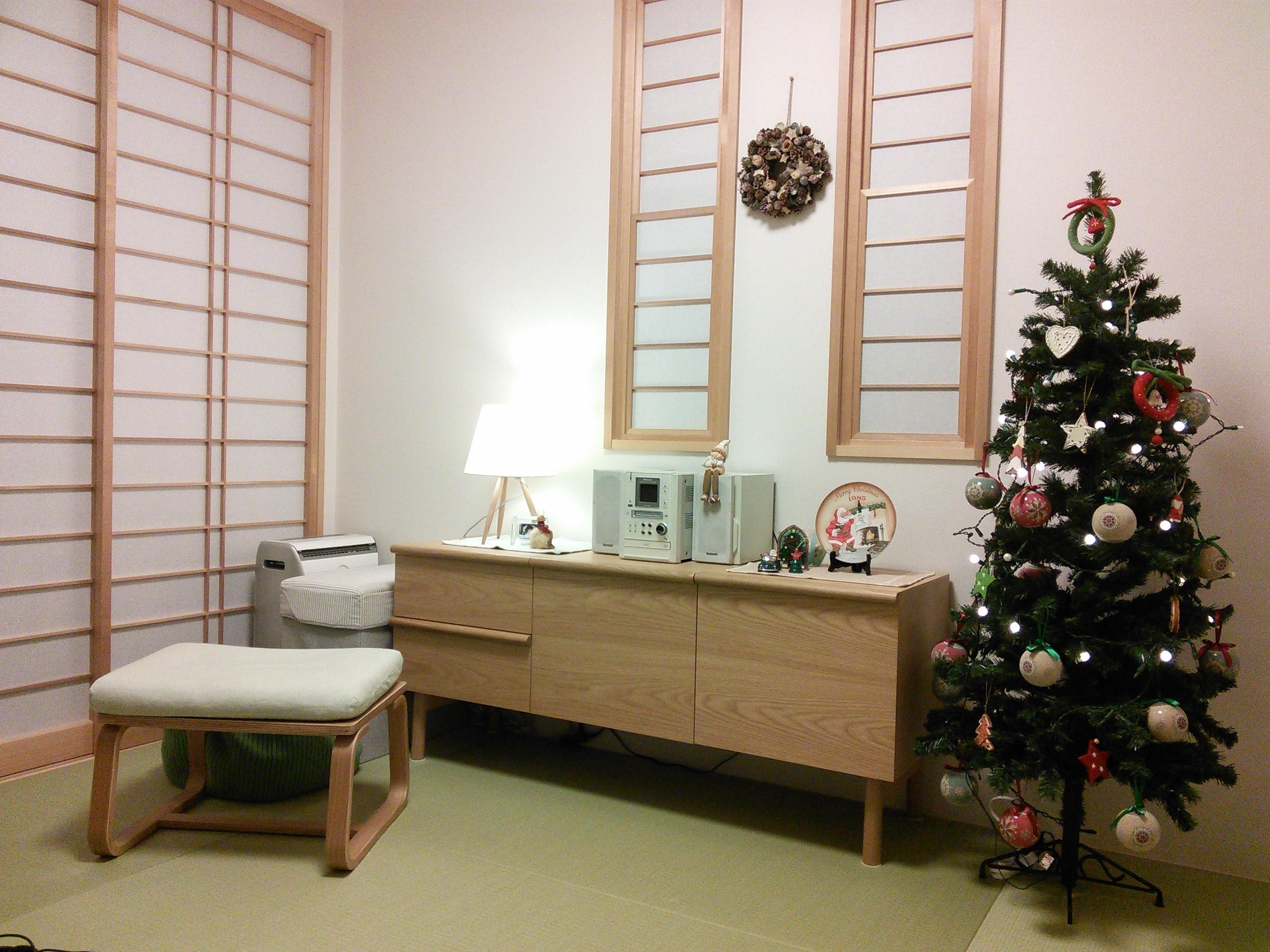 和室にツリー